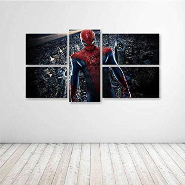 Quadro Decorativo - The Amazing Spider Man Movie - Composto de 5 Quadros