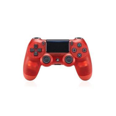 Console sem fio Bluetooth PS4 Sony dualshock4,Vermelho transparente