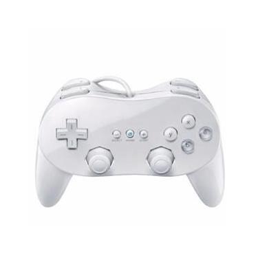 Controle Nintendo Wii Classic Controller Pro Cor Branca
