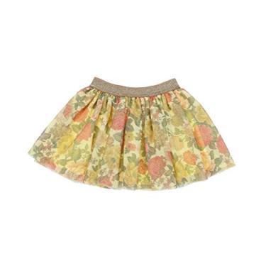 DaniChins Saia tutu em camadas de tule princesa brilhante para meninas pequenas, Amarelo, 4