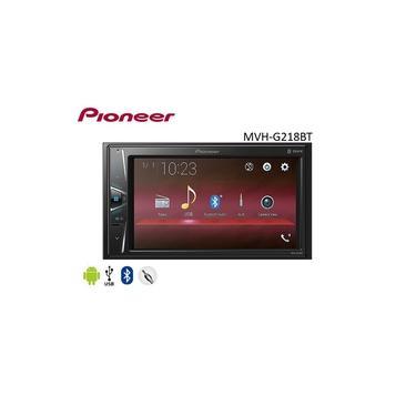 """DVD Pioneer MVH-G218BT 2 Din Com Tela 6,2"""" USB e Bluetooth"""