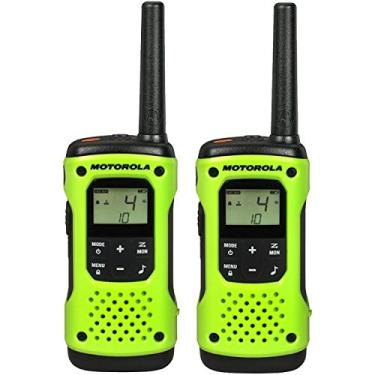 Par Radio Comunicador Motorola Talkabout Walk Talk T600 H2O Prova Dágua Até 56 Km (Verde)