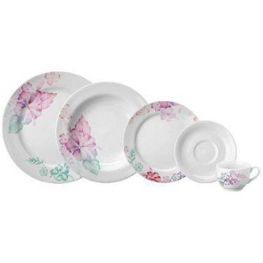 Aparelho de Jantar com Jogo de Chá 30 Peças - Porcelana Schmidt Redond