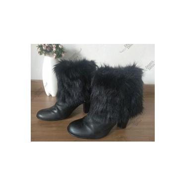 Polaina Para Botas Coturno Sapatos Pelúcia Pelinho Preto