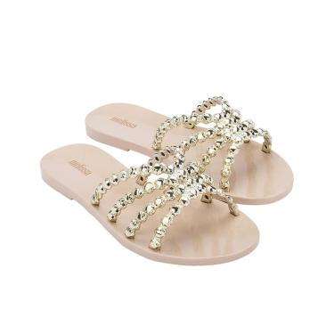 Chinelo Melissa Crystal - 38 - Bege/Ouro