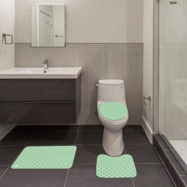 Imagem de Jogo de Banheiro Ornamental Verde Único