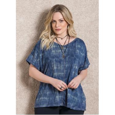 ea7f6726c Camisa, Camiseta e Blusa Blusa Azul Feminino | Moda e Acessórios ...