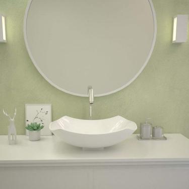 Cuba de Apoio para Banheiro Abaulada L42 Lux Compace Branco