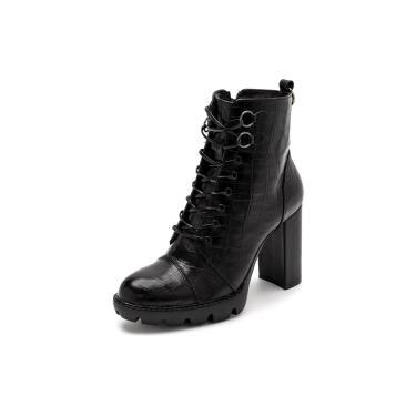 Bota Sandalo Feminina Clave De Fa Piaf Preto  feminino