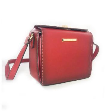 Bolsa Chenson Tiracolo Box Transversal Vermelho Vinho  feminino