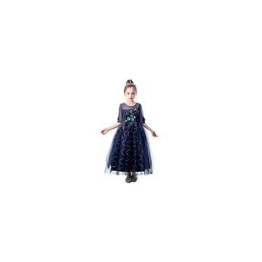 Vestido floral para crianças meninas princesa dama de honra concurso de aniversário vestido de noiva