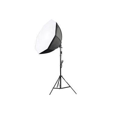 Kit Iluminação Estúdio Softbox E27 Octo 70cm Com Tripé