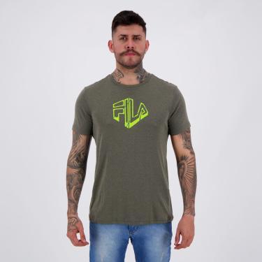 Camiseta Fila Run Silva Cinza - P