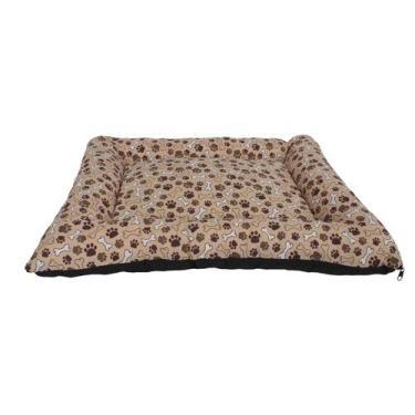 Caminha/Colchão Impermeável de Cachorro e Gato OnPets Cama Pet Extra Grande em Tecido cor Marron Patinhas GG050067