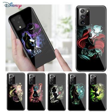 Disney animação dos desenhos animados princesa capa preta para samsung galaxy a31 a51 a71 a91 a12