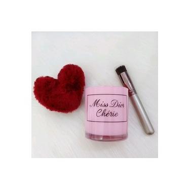 Porta pinceis de maquiagem missDior rosa
