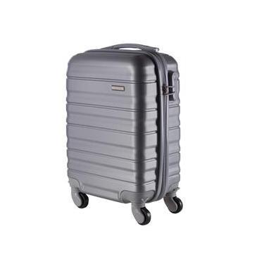 Malas de Bordo Pequena para Viagem em ABS Yins 21026 Rodinhas Removíveis Cadeado Integrado Prata