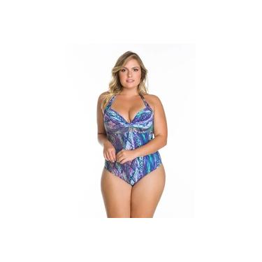 Maiô Arsiè Beachwear Frente Única Com Drapeado Plus Size