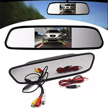 Espelho Retrovisor LCD 4.3 Pol Para Camera De Re Automotivo Carro (ZE-0027)