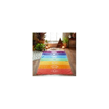 Tapete de ioga Tapeçaria Arco-íris 7 Listras de Chakra Toalha de Praia Verão Pendurado na parede Mandala Cobertor Viagem Protetor solar Xaile Hippy Boho