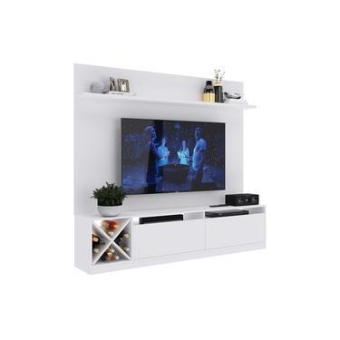 Estante Home para TV de até 80'' Branca - Quiditá Móveis