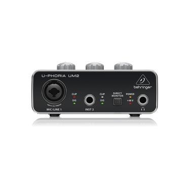Interface de Áudio Behringer USB U-Phoria UM2