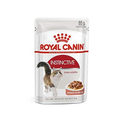 Ração Úmida Royal Canin Sachê Instinctive - Gatos Adultos - 85g Royal Canin para Todas Todos os tamanhos de raça Adulto - Sabor Outro