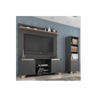 Rack com Painel para TV e Estante 2,28m Benevello 2039 Quiditá