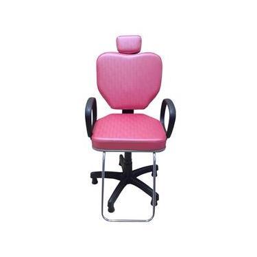 Cadeira Para Salão Cabeleireiro Poltrona Salão Beleza Pink