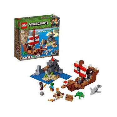 Lego Minecraft - A Aventura do Barco Pirata - 21152