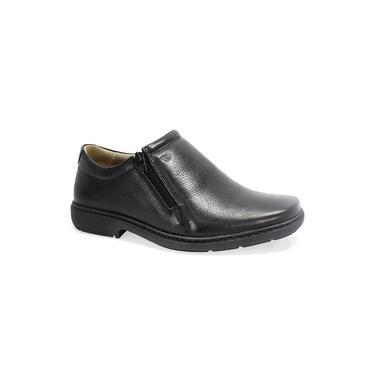 Sapato Vudalfor Couro Zíper Masculino Preto