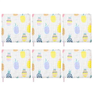 Imagem de Toalhas de banho DOITOOL 6 peças toalhas de banho de musselina toalha de rosto reutilizável para recém-nascidos