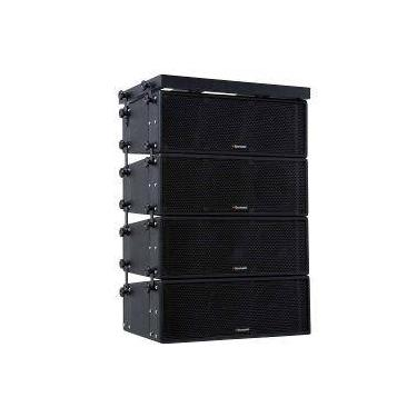 """Conjunto Line Array Boombastic Lr01 Reta - 4 Caixas Completas Para 2 Alto-Falantes De 8"""" + Guia De O"""