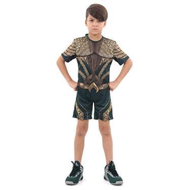 Imagem de Fantasia Aquaman Curto Com Musculatura Infantil 916109-G, Verde, Sulamericana Fantasias