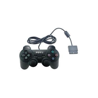 Controle Analógico Compatível com Playstation 2 Foyu Com Fio