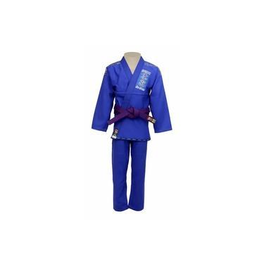 Kimono Jiu Jitsu - Trancado Master - Pesado - Shiroi - Azul