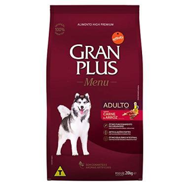 Ração para Cães Adultos Gran Plus Carne e Arroz 20kg