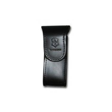 Bainha de cinto em Couro Preta para canivetes Victorinox tamanho G 4.0523.32A