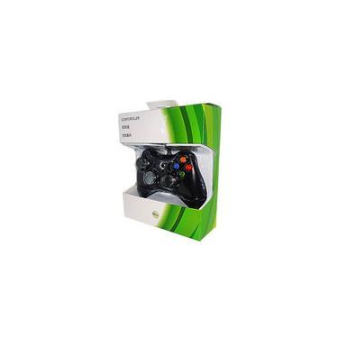 Controle Manete Joystick Xbox 360 Com Fio 2 metros USB PC/Xbox Preto - Feir