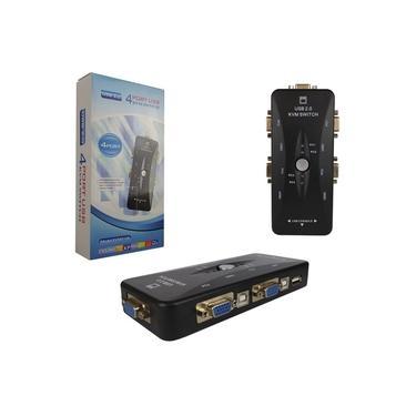 Switch de monitor KVM 4 portas