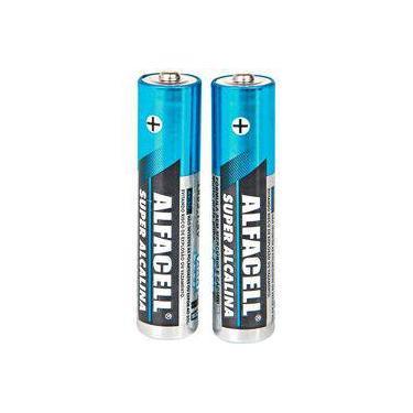 Pilha AAA Alcalina Alfacell LR03 1,5V blister com duas