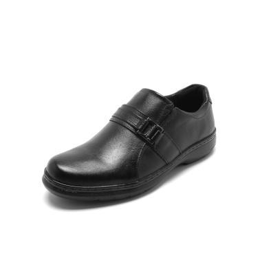 e9b1fa2fce Sapato Social Couro Pegada Recortes Marrom Pegada 125008-03 masculino