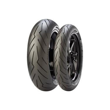 Pneu Pirelli Diablo Rosso 3 180/55-17 + 120/70-17 Combo