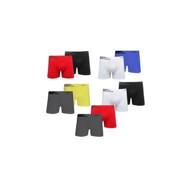 Kit 10 Cuecas Boxer Microfibra Sem Costura - Lupo 436 902