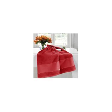 Imagem de Toalha de Lavabo 30cm x 45cm Multiarte Vermelha - Dohler