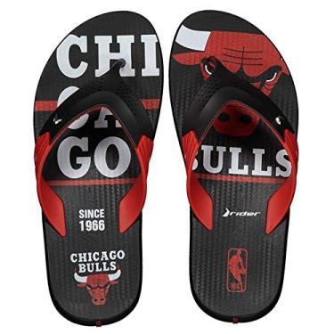 24920a5425 Chinelo Rider Double NBA Chicago Bulls Preto
