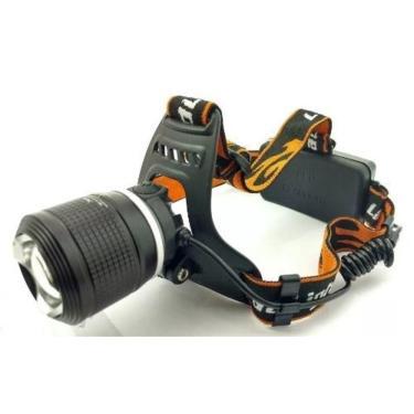 Lanterna De Cabeça Profissional Headlight Com Zoom Ajustável 2 Baterias