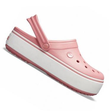 Crocs Crocband Plataforma Feminino Rosa Cor:Rosa;Tamanho:35