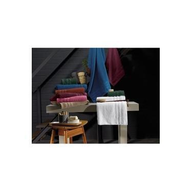 Imagem de Toalha de Rosto Tinto 100% Algodão 45x75cm Hanna Marrom Teka