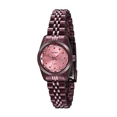 b23534a2414 Relógio Visor Rosa Cristais Vermelho 99169LPMVYS2